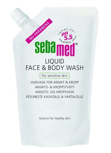 Sebamed Liquid Face & Body Wash 1000 ml täyttö