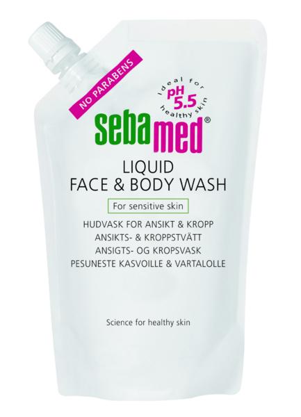 Sebamed Liquid Face & Body Wash 1000 ml täyttö