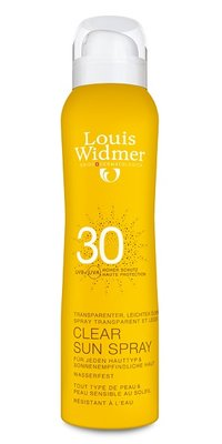 Louis Widmer Clear Sun Spray 30 125 ml hajusteeton