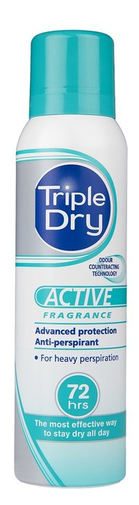 Triple Dry Active 72 h spray 150 ml turkoosi
