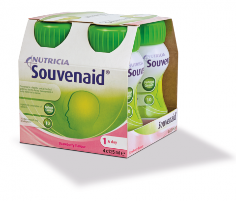 Souvenaid mansikka 4 x 125 ml
