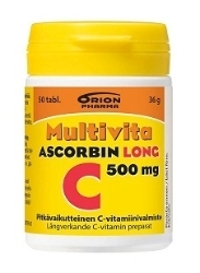 Multivita Ascorbin Long C-Vitamiini 500 mg