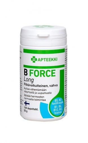APTEEKKI B Force Long 100 depottabl.