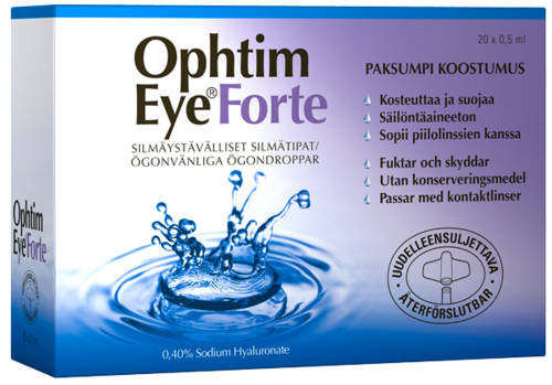 Ophtim Eye Forte 0,4% silmätipat pipetit 20 x 0,5 ml