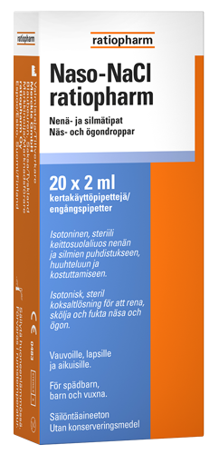 Naso NaCl Ratiopharm 20 x 2 ml