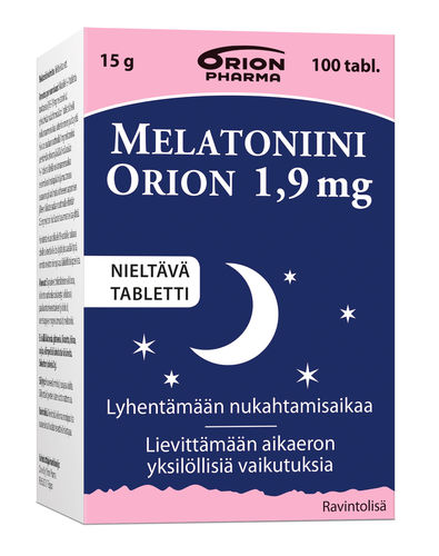 Melatoniini Orion 1,9 mg 100 tabl.